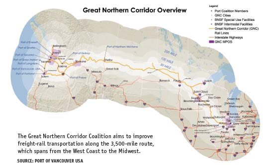 Great Northern Corridor Overview Map