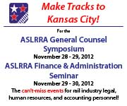 Make Tracks to Kansas City! ASLRRA General Counsel Symposium, click here to learn more.
