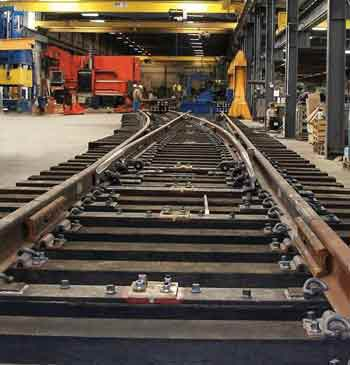 Railroads seek longer-lasting special trackwork components