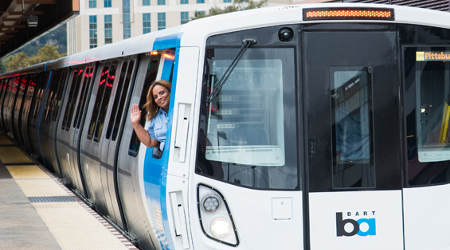 BART debuts 10 new cars today