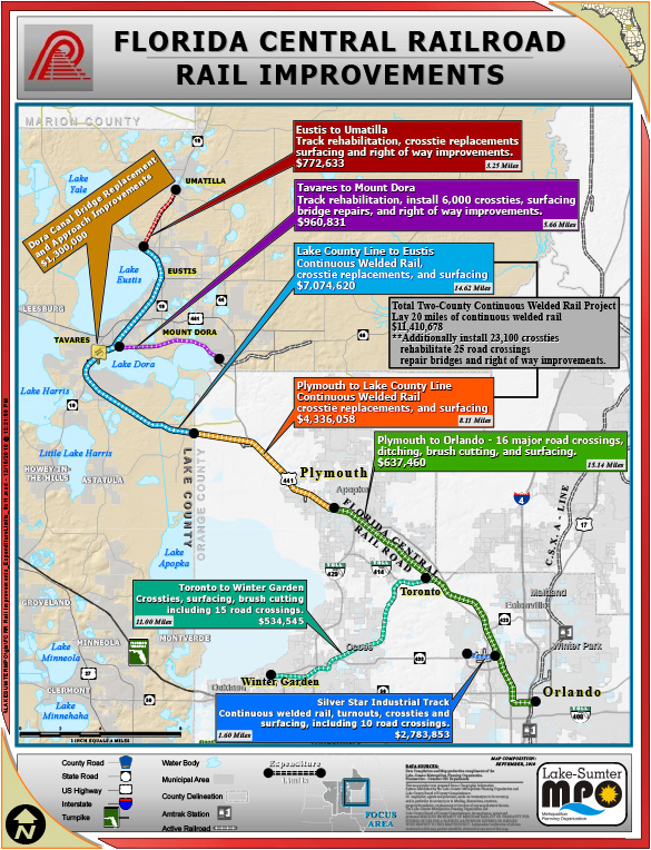 Florida Central Map.Rail Insider Florida Central Railroad Tackles Large Track Project