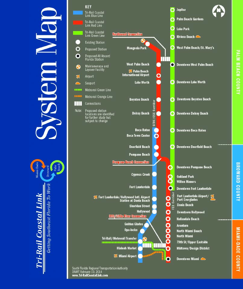 Deerfield Florida Map.Rail Insider South Florida Rail Upgrades To Provide More Freight