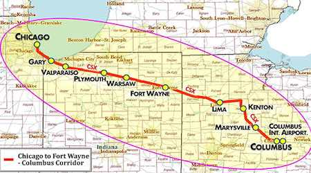 Rail News - Feds to study Chicago-Columbus higher-speed rail route ...