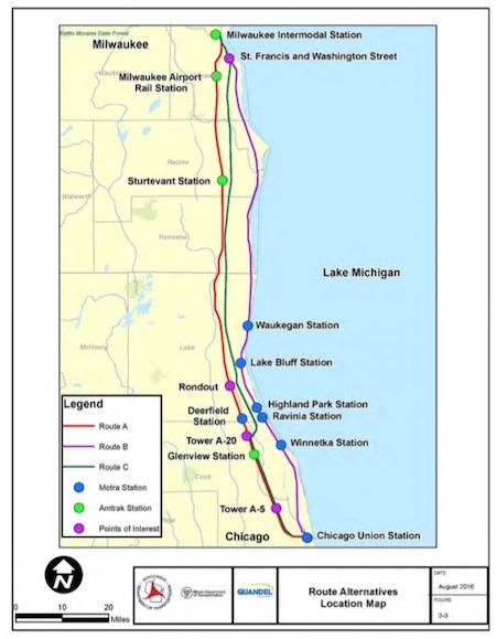 Rail News - Amtrak Hiawatha project environmental study ... Union Station Chicago Area Railroad Map on west chicago area map, north station area map, grand central station area map, chicago loop area map, tokyo station area map, south chicago area map,