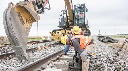 Union Pacific track workers