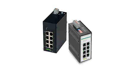 WAGO: Two industrial, unmanaged eight-port gigabit switches