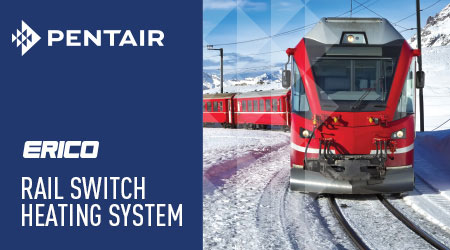 Pentair introduces the ERICO Rail Switch Heating System
