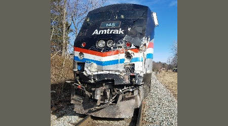 NTSB: Truck was on tracks, gates were down before Amtrak crash