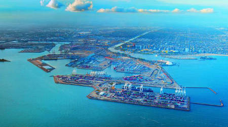 The Pilot Is Aimed At Improving Cargo Flow And Data Visibility Port Photo Of Long Beach