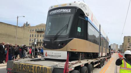 Rail News Milwaukee Receives First Streetcar From