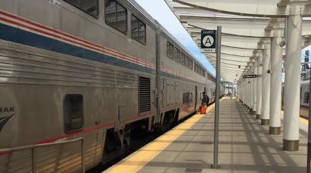 Amtrak train at Denver's Union Station