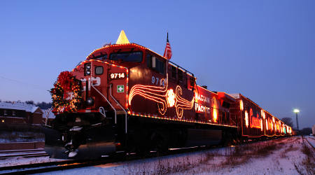 lighted christmas train schedule