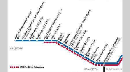 max line map portland Rail News Trimet Advances Red Line Projects For Railroad Career max line map portland