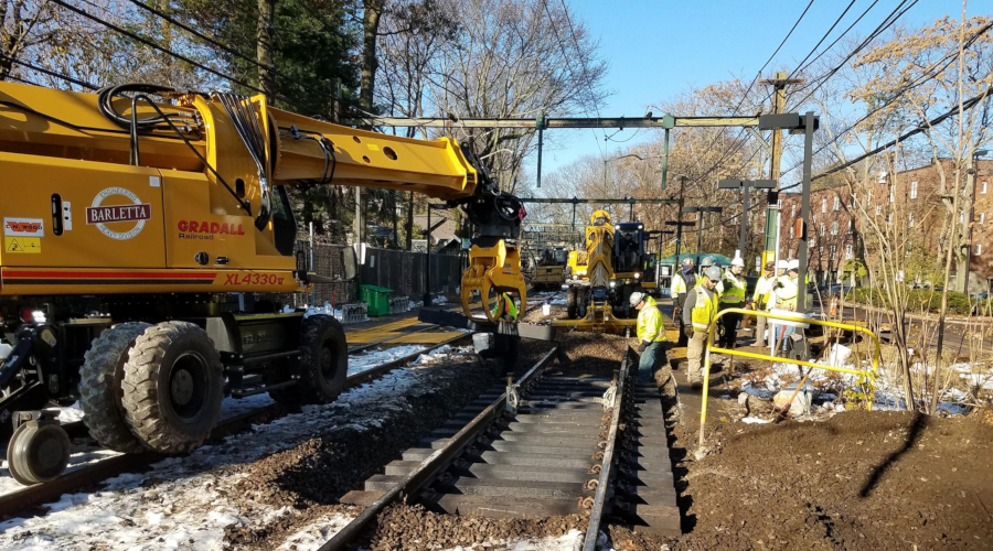 Rail News - MBTA extends Green Line track, signal work  For