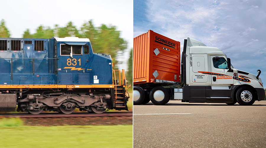 Rail News - Schneider launches intermodal service at CSX
